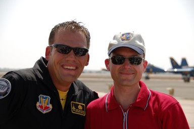Reto mit Maj David Graham, Commander und Pilot des Viper West Demo-Teams