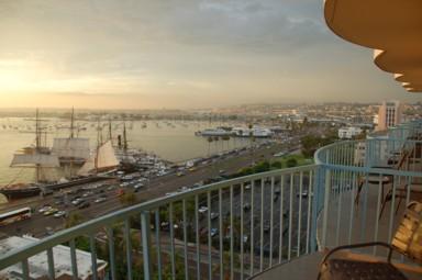 Aussicht vom Hotelzimmer in San Diego