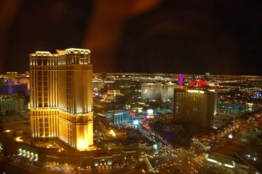 """Blick aus dem Hotelzimmer im """"Wynn"""""""