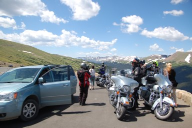 Trail Ridge Road im Rocky Mountain Nationalpark, 3713 Meter