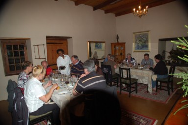 Harley-Tour 2010: Gepflegtes Dinner in tollem Ambiente.
